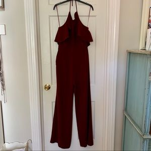 """""""Ruffle Halter Body Dice Jumpsuit""""by Charles Henry"""